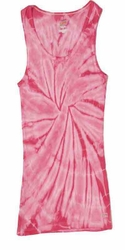 Tie Dye Kids Tank Top Spider Pink Youth Soffe Tank Top