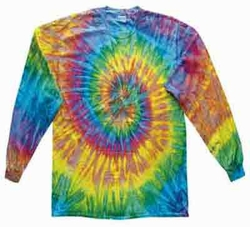 Tie Dye Kids Shirt Saturn Long Sleeve Youth Tee