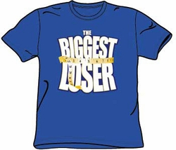 The Biggest Loser T-shirt Kids Size Logo Youth Royal Blue TV Show Tee