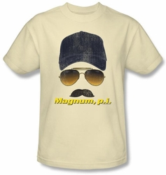Magnum PI T-shirt Geared Up Classic Adult Cream Tee Shirt