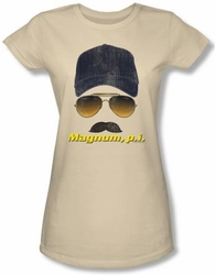Magnum PI Juniors T-shirt Geared Up Classic Cream Tee Shirt