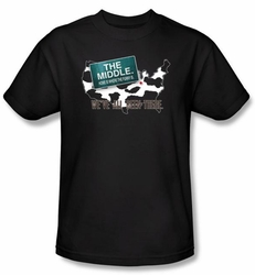 The Middle T-shirt TV Show We've All Been There Adult Black Tee Shirt