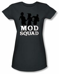 Mod Squad Juniors Shirt Mod Squad Run Simple Charcoal T-Shirt