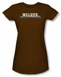 Walker Texas Ranger Juniors T-Shirt - Logo Brown