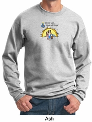 Adults Against Drugs Sweatshirt Hugs Not Drugs Adult Sweat Shirt
