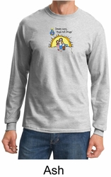 No To Drugs Long Sleeve Shirt - Hugs Not Drugs Adult Shirt
