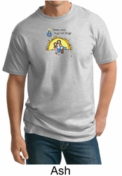 No To Drugs Tall T-shirt - Hugs Not Drugs Adult Tee Shirt