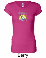 Against Drugs Ladies Shirt - Hugs Not Drugs Longer Length Shirt