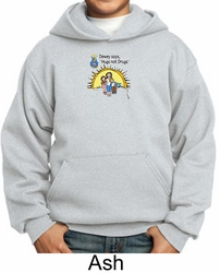 Agianst Drugs  Kids Hoodie Sweatshirt - Hugs Not Drugs Youth Hoody