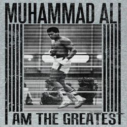 Muhammad Ali Shirt I Am The Greatest Ali Time Adult Grey Tee T-Shirt