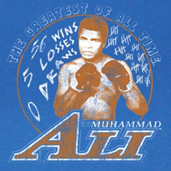 Muhammad Ali Shirt Rippin It Up Adult Royal Blue Tee T-Shirt