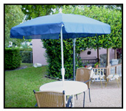 Closeout Special • Steel-6-Ribbed Single Vent Patio Umbrella - Standard Top