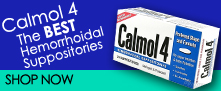 Calmol 4 hemorrhoidal suppositories