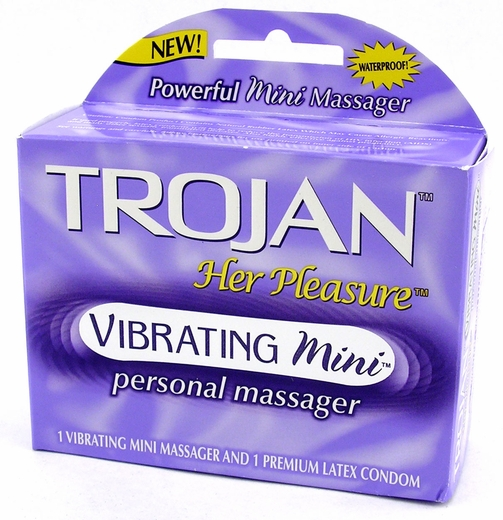 trojan her pleasure vibrating mini