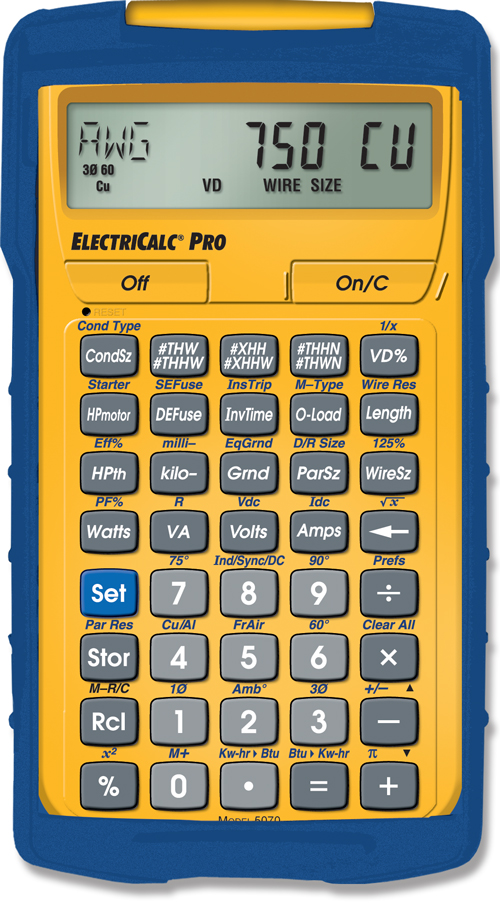 calculated-industries-electricalc-pro-5070-updateable-national-electrical-code-calculator