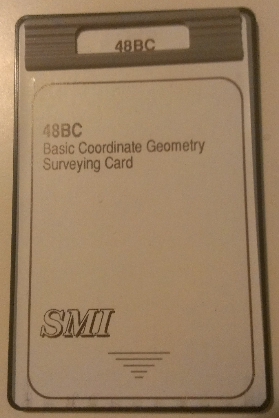 smi-used-48bc-basic-coordinate-geometry-surveying-card