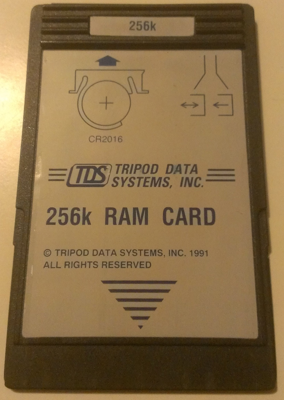 Image of TDS Used 256k RAM Card