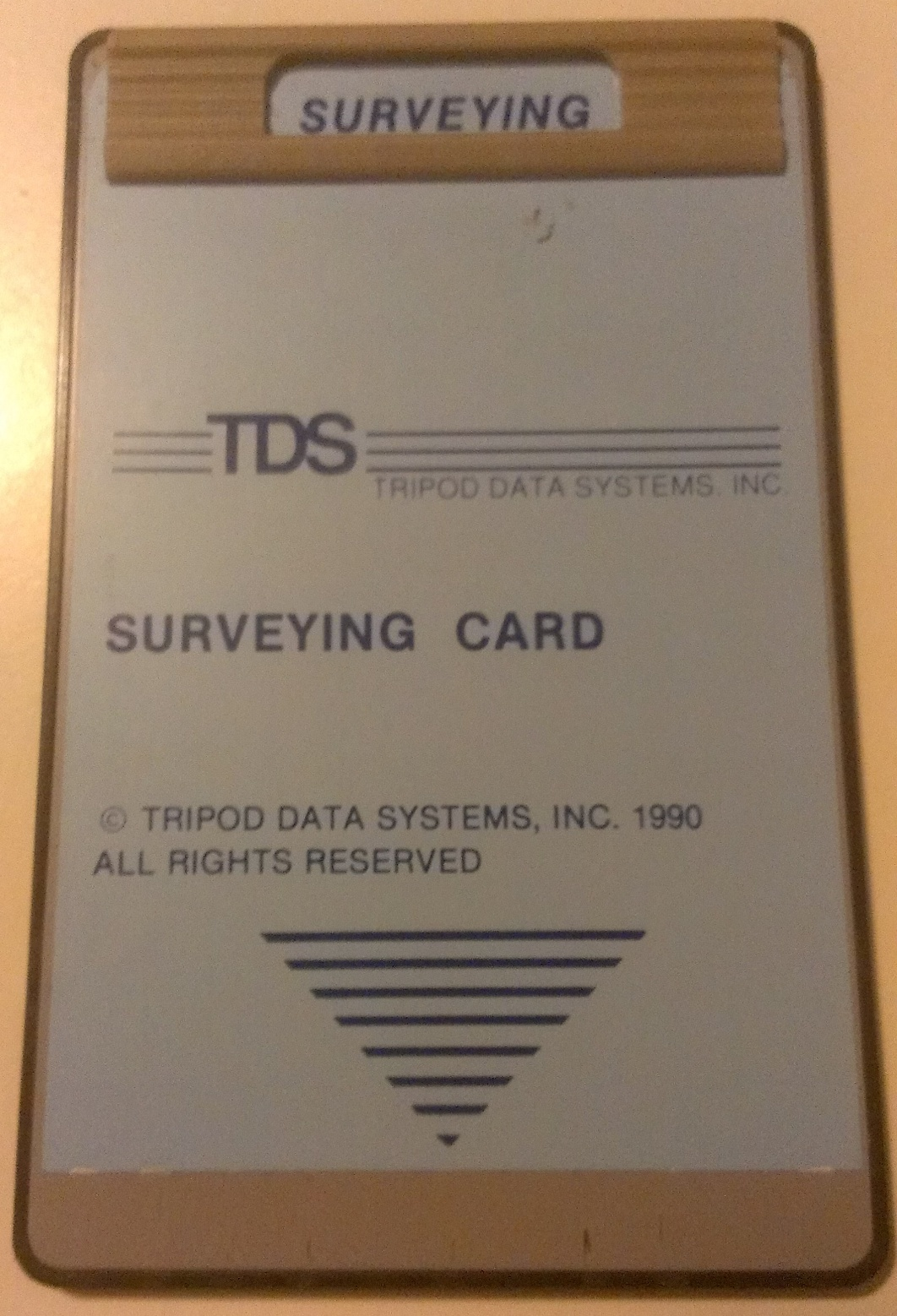 Image of TDS Used Surveying Card for HP-48SX/GX