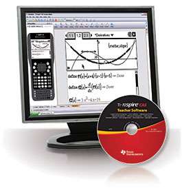 Image of Texas Instruments TI-Nspire CAS Teachers' Edition Software