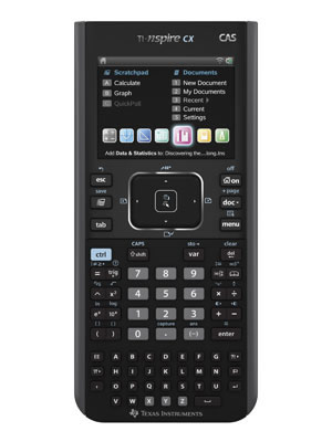 Image of Texas Instruments TI-Nspire CX CAS Graphing Calculator and Teacher's Edition Software Bundle