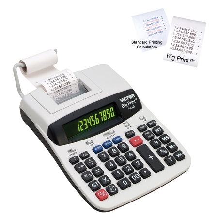 Image of Victor Big Print 1310 10/12-Digit Commercial Thermal Printing Calculator