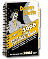Image of 2008 Dr. Watts Shirt Pocket Electrical Guide
