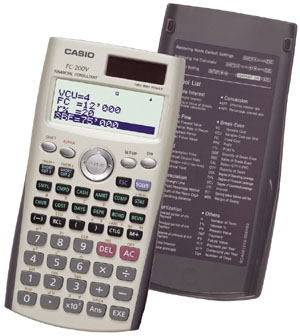 Image of Casio FC-200V Financial Calculator with 4-Line Display
