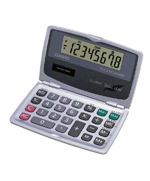 Image of Casio SL-200TE Solar Tax & Currency Wallet Calculator