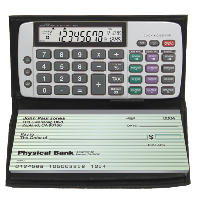 Image of Datexx DB-413 Checkbook Calculator with Date/Time