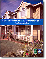 Image of 2003 International Residential Code Study Companion