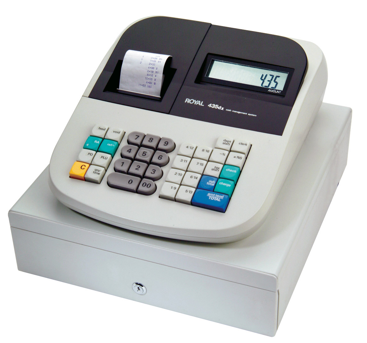 royal-435-dx-cash-register-with-16-departments-800-plus-refurbished