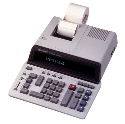 Image of Sharp QS1760H 10-Digit 4.1 LPS Business Printing Calculator