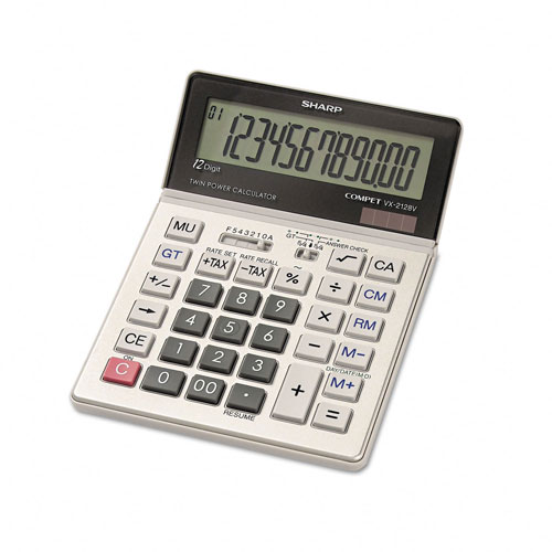Image of Sharp VX-2128V Portable 12 Digit Large Display Calculator