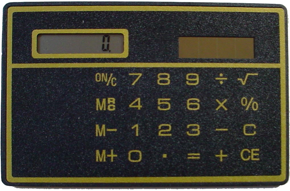 Image of Basic Solar True Credit Card Size Calculator - Just 2mm Thick!