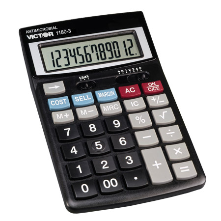 Image of Victor 1180-3A AntiMicrobial Portable Desktop Calculator