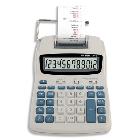 Image of Victor 1208-2 12-Digit LCD Printing Calculator