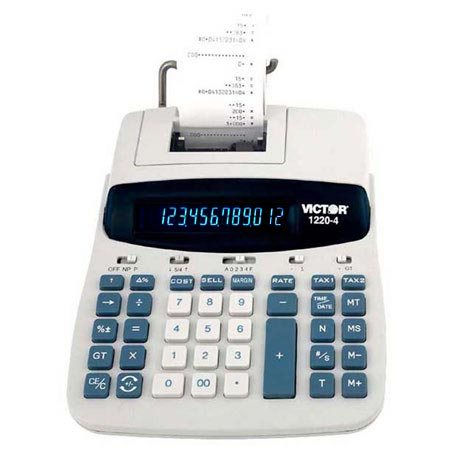 Image of Victor 1220-4 12-Digit Desktop Printing Calculator