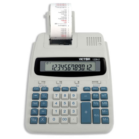 Image of Victor 1228-2 12-Digit Desktop Printing Calculator