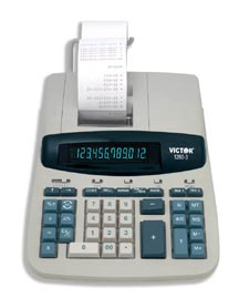 Image of Victor 1260-3 12-Digit 4.1 LPS Printing Calculator