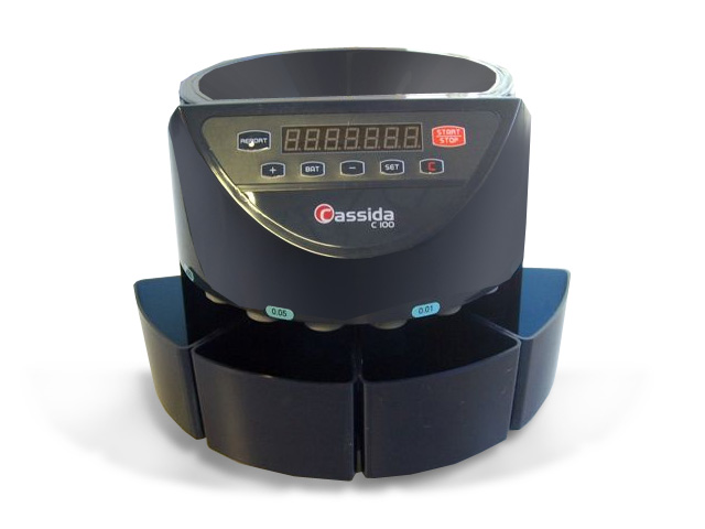 Image of Cassida C100 Reliable Coin Counter and Sorter - 250 Coins/Min