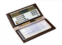 Image of Canon Checkbook III Money Manager with Wallet Case and Pen (Used)