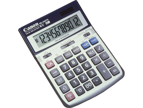 Image of Canon HS-1200TS 12 Digit Dual Power Cost/Sell/Margin Display Calculator