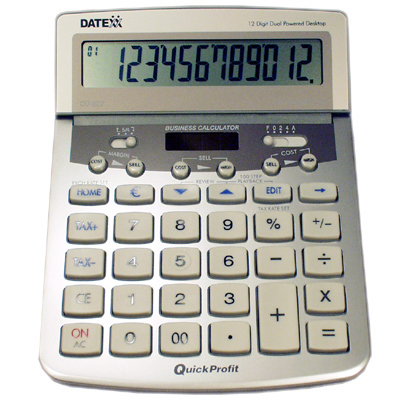 Image of Datexx DD-922 Desktop Profit Analyzer Calculator with Journal