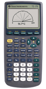 Image of Texas Instruments Used TI-73 Graphing Calculator