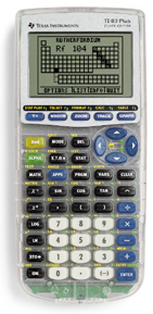 Image of Texas Instruments TI-83 Plus Silver Graphing Calculator (Used)