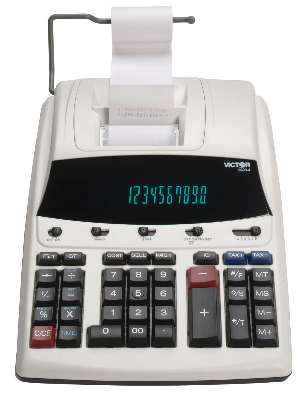 Image of Victor 1230-4 Commercial Desktop Printing Calculator /w Extra Large Display