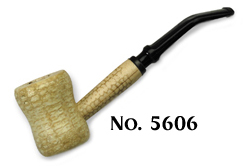 Great Dane Spool Corncob Tobacco Smoking Pipe - Bent