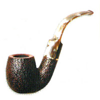 Savinelli Roma Lucite #614 Oom Paul Full Bent Smoking Pipe