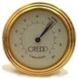 Credo Analog Hygrometer Cigar Humidity Gauge for Humidors