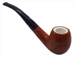 Carey Magic Inch Tiger Eye Meerschaum Lined Pipe - Full Bent